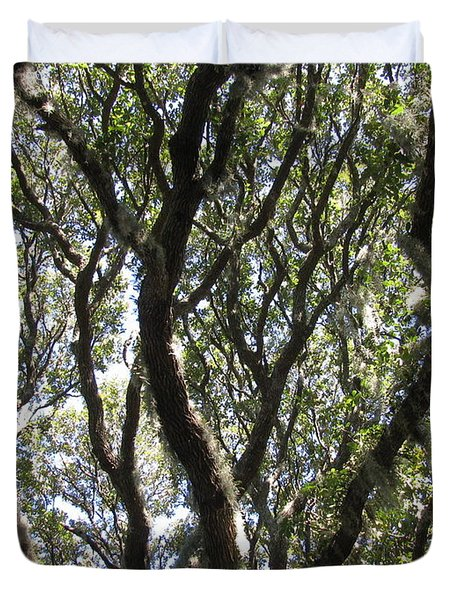 Spanish Moss Oak Duvet Cover