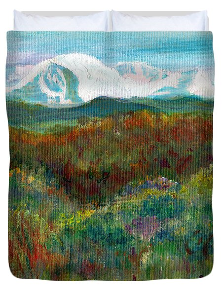 Spanish Peaks Evening Duvet Cover by C Sitton