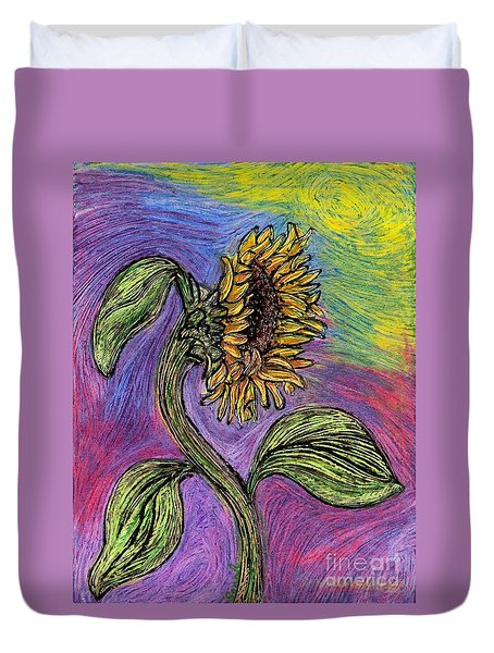 Spanish Sunflower Duvet Cover by Sarah Loft