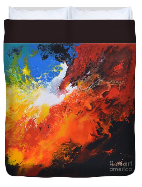 Spark Of Life Canvas Three Duvet Cover