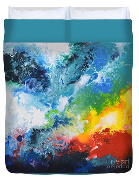 Spark Of Life Canvas Two Duvet Cover
