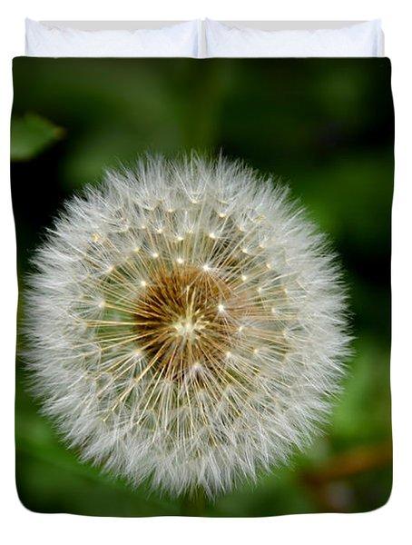 Duvet Cover featuring the photograph Sparkling Dandelion by Debra Martz