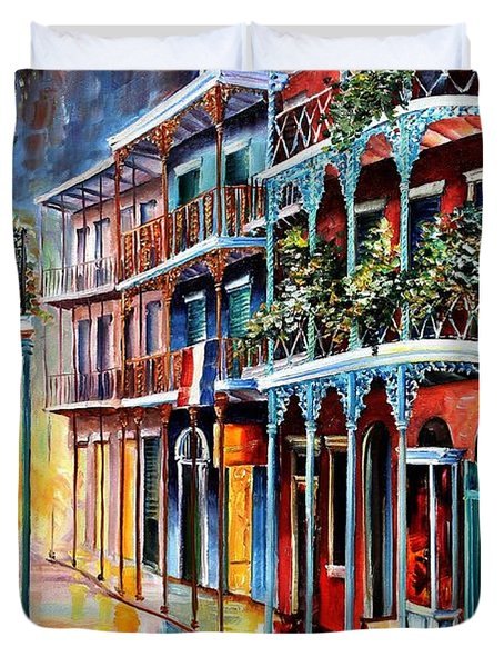 Sparkling French Quarter Duvet Cover by Diane Millsap