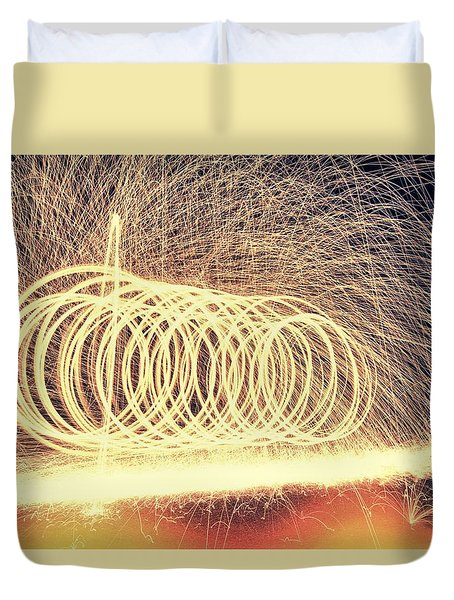 Sparks Duvet Cover by Dan Sproul