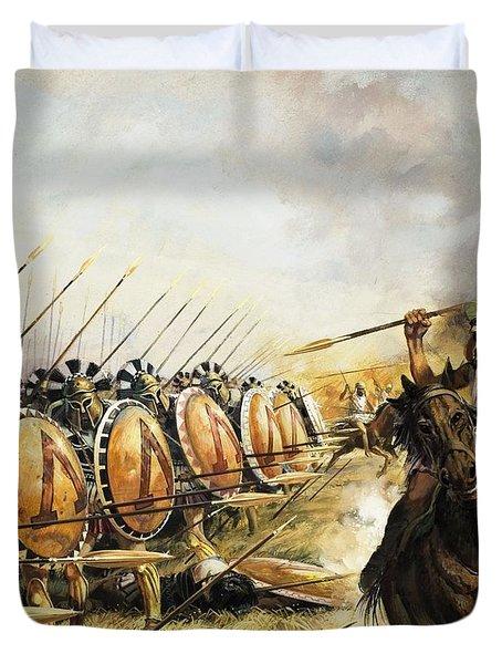 Spartan Army Duvet Cover