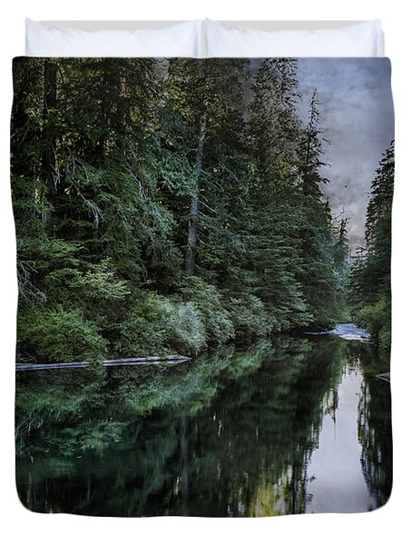 Spawning A River Duvet Cover