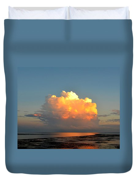 Spectacular Cloud In Sunset Sky Duvet Cover