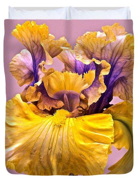 Spectacular Iris Close Up Duvet Cover