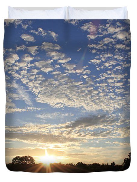 Spectacular Sunset England Duvet Cover
