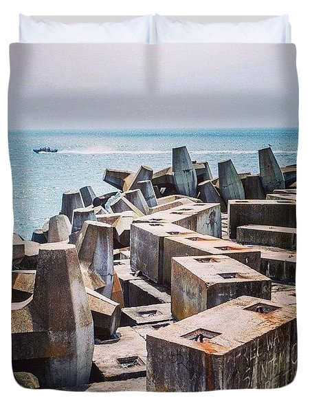 Speed Away, Cape Town, South Africa Duvet Cover