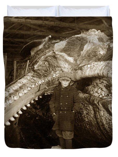 Sperm Whale Taken At Moss Landing California  On January 22 1919 Duvet Cover