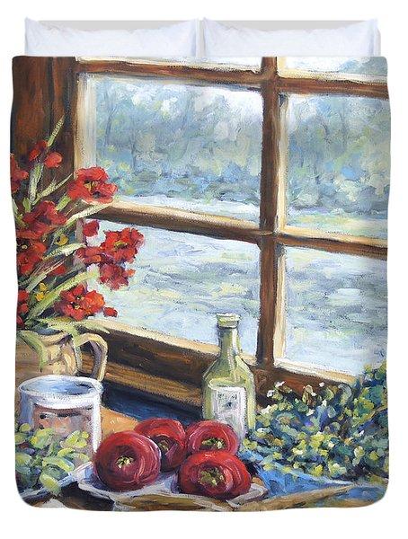 Spice Table By Prankearts Duvet Cover by Richard T Pranke
