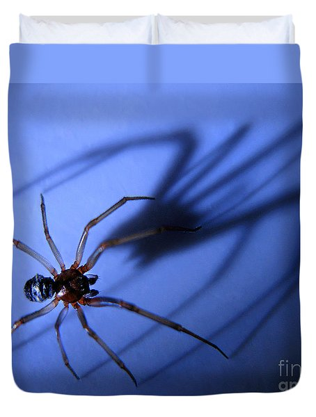 Spider Blue Duvet Cover