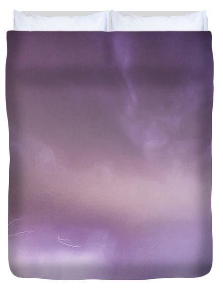 Spider Lightning Above Haystack Boulder Colorado Duvet Cover by James BO  Insogna