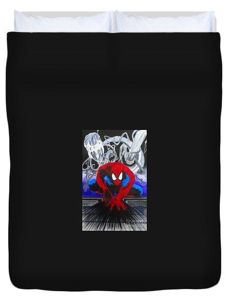 Spider-man Watercolor Duvet Cover