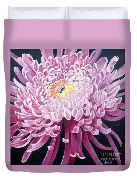 Duvet Cover featuring the painting Spider Mum by Debbie Hart