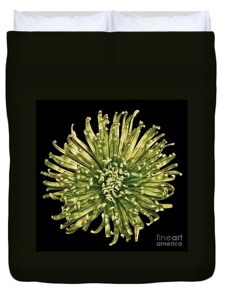 Duvet Cover featuring the photograph Spider Mum by Jerry Fornarotto