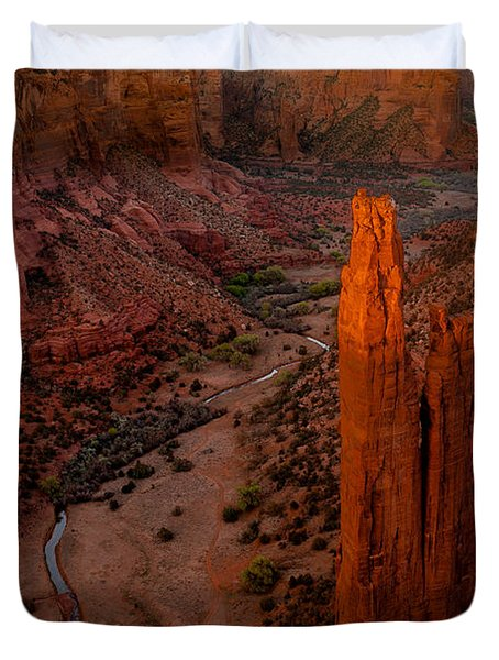 Spider Rock Sunset Duvet Cover