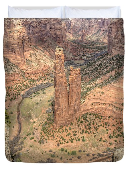 Spider Rock Towers, Arizona Duvet Cover