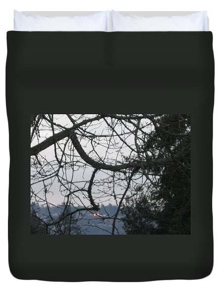 Spider Tree Duvet Cover by David Trotter