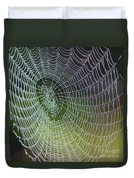 Spider Web Duvet Cover by Heiko Koehrer-Wagner