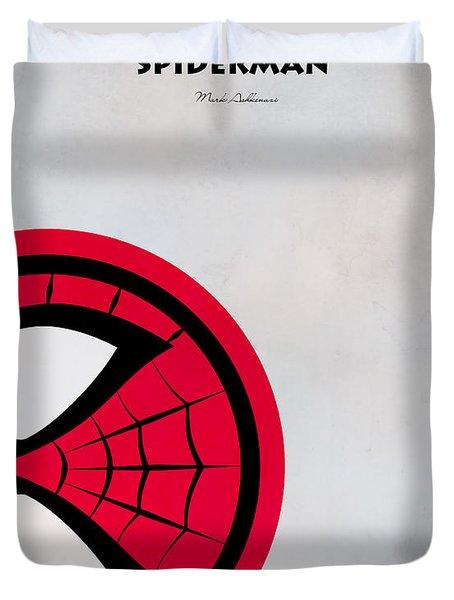 Spiderman 6 Duvet Cover by Mark Ashkenazi