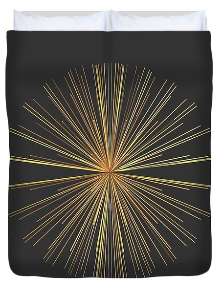 Duvet Cover featuring the digital art Spikes... by Tim Fillingim