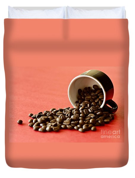 Spill The Beans Duvet Cover by Dee Cresswell