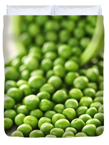 Spilled Bowl Of Green Peas Duvet Cover