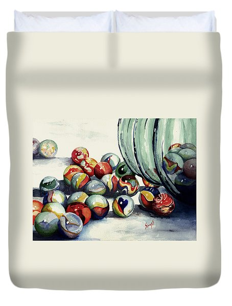 Spilled Marbles Duvet Cover by Sam Sidders