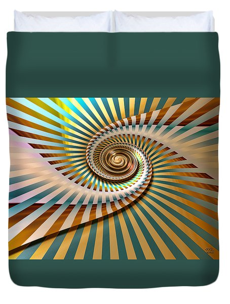 Spin Duvet Cover by Manny Lorenzo