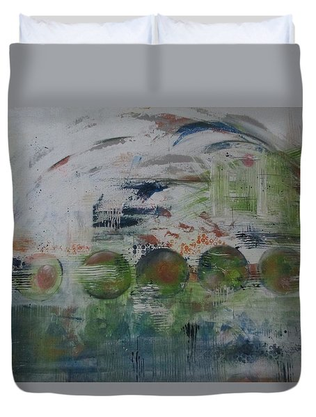 Spin The Earth Duvet Cover