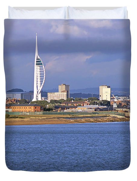 Spinnaker Tower And Gunwharf Quays Duvet Cover