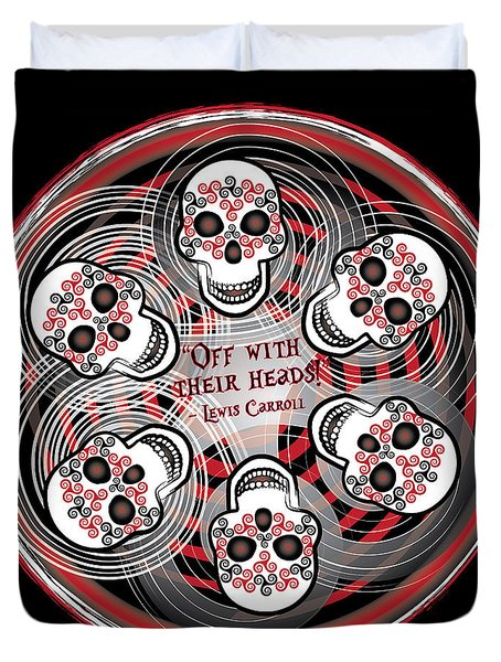 Spinning Celtic Skulls Duvet Cover