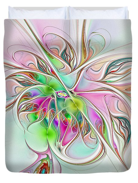 Spinning Dreams Duvet Cover by Deborah Benoit