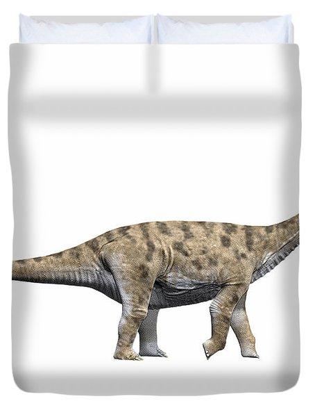 Spinophorosaurus Nigerensis, Middle Duvet Cover by Nobumichi Tamura
