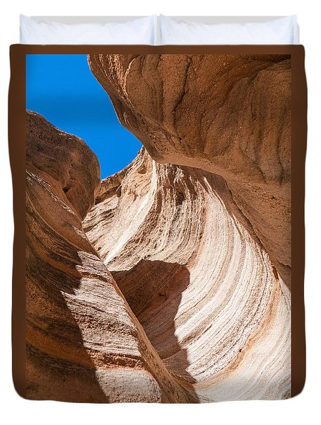 Spiral At Tent Rocks Duvet Cover
