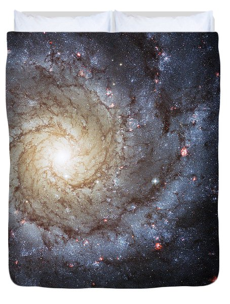Spiral Galaxy M74 Duvet Cover by Adam Romanowicz
