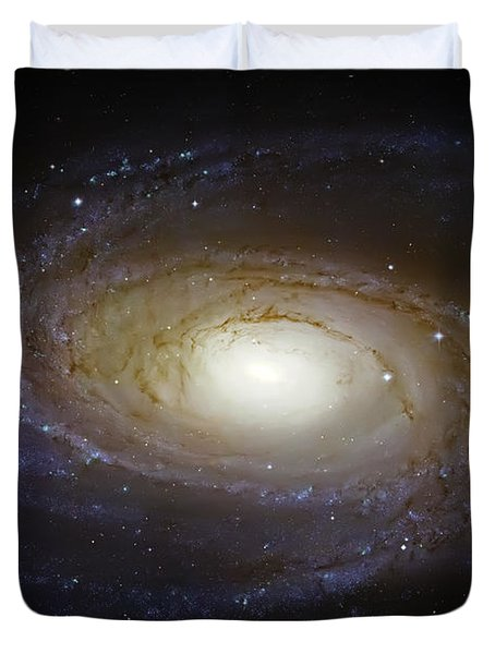 Spiral Galaxy M81 Duvet Cover by Jennifer Rondinelli Reilly - Fine Art Photography