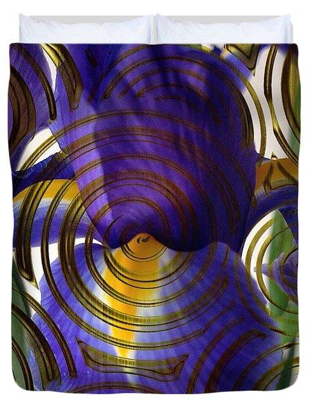 Spiral Iris Duvet Cover