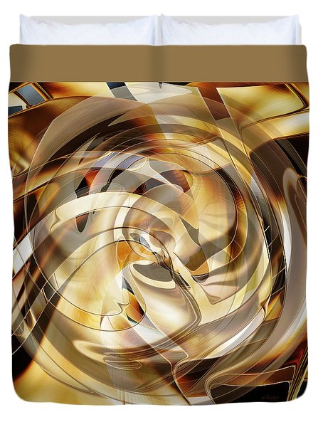 Duvet Cover featuring the digital art Spiral Of Life by rd Erickson