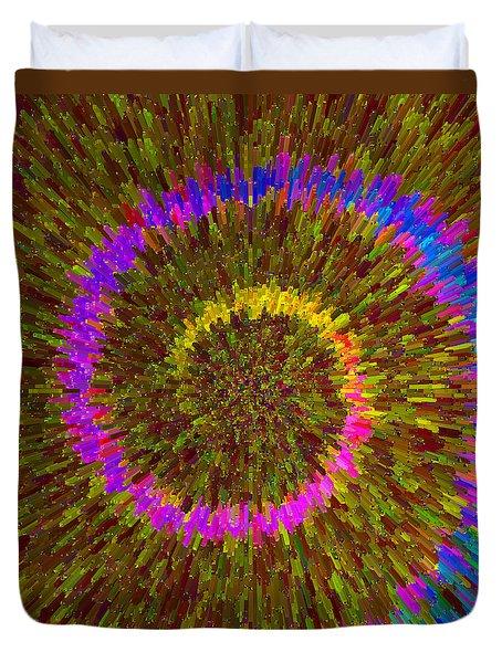 Spiral Rainbow IIi C2014 Duvet Cover