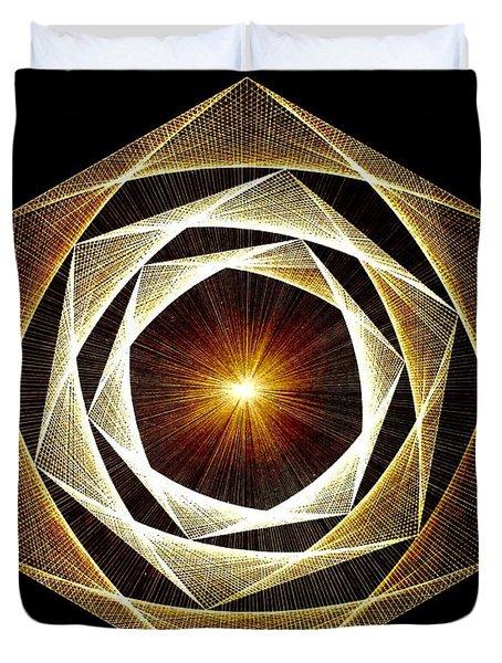 Spiral Scalar Duvet Cover