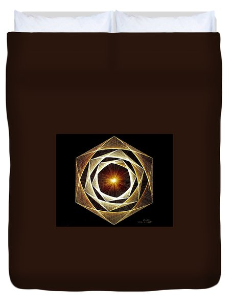 Spiral Scalar Duvet Cover by Jason Padgett
