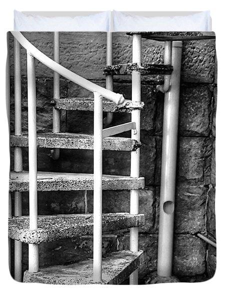 Spiral Steps - Old Sandstone Church Duvet Cover by Kaye Menner
