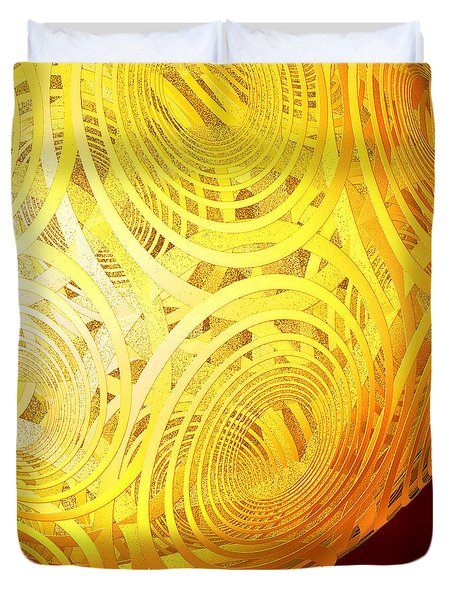 Spiral Sun By Jammer Duvet Cover by First Star Art