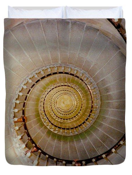 Spirale Du Phare Des Baleines Version Carree Duvet Cover
