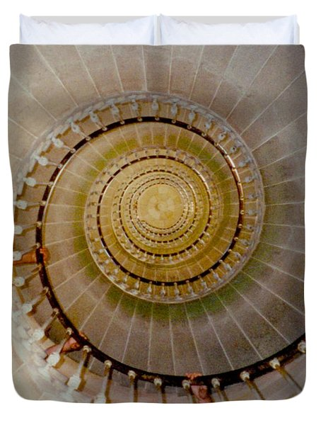 Spirale Du Phare Des Baleines Version Carree Duvet Cover