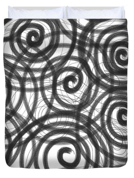 Spirals Of Love Duvet Cover by Daina White