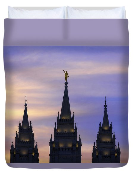 Spires Duvet Cover by Chad Dutson
